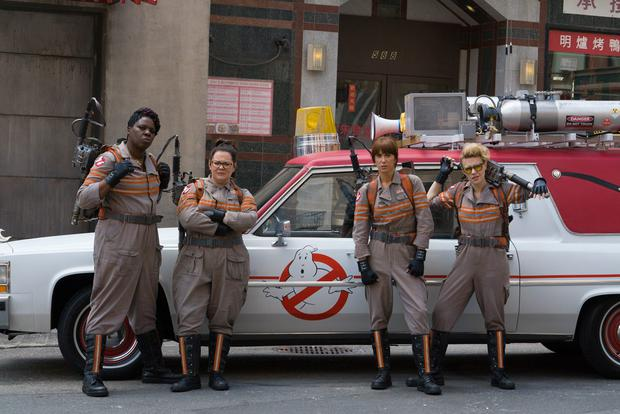The cast of Ghostbusters (2016)