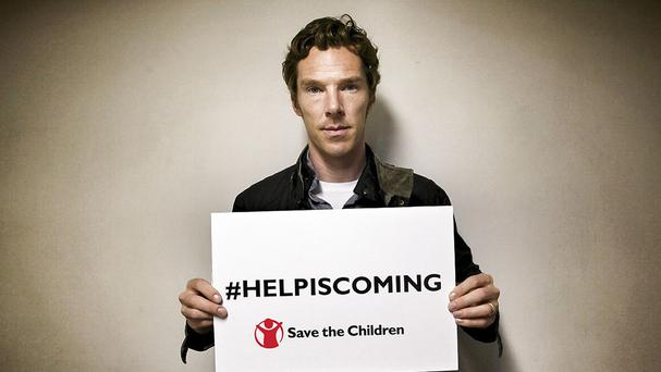 Sherlock star Benedict Cumberbatch is fronting a short film for Save the Children's efforts to help the refugee crisis (Save The Children/PA)