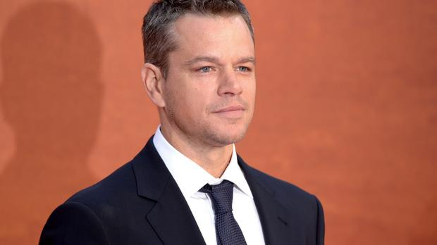 Matt Damon at the European premiere of The Martian in Leicester Square