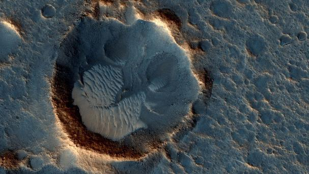 This Nasa image shows the Acidalia Planitia region of Mars, as depicted in the new movie The Martian