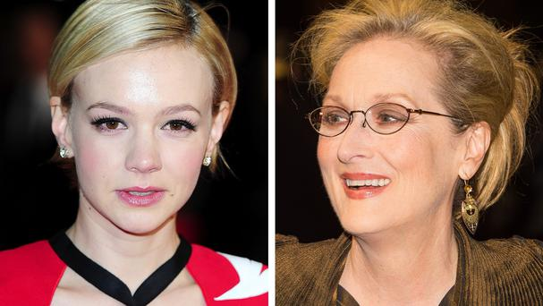 Carey Mulligan (left) and Meryl Streep star in the political period drama Suffragette