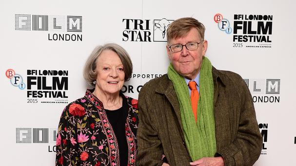 Dame Maggie Smith and Alan Bennett attend the premiere of The Lady in the Van