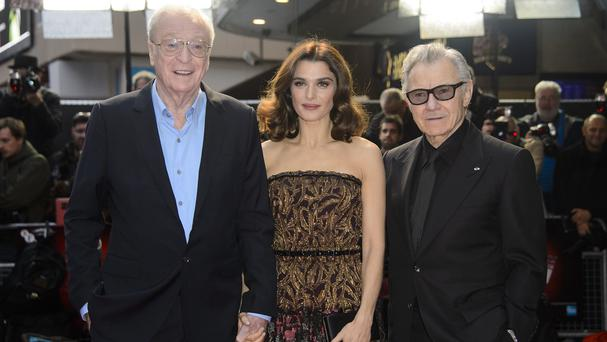 Sir Michael Caine, Rachel Weisz and Harvey Keitel attending the Youth premiere in Leicester Square, London