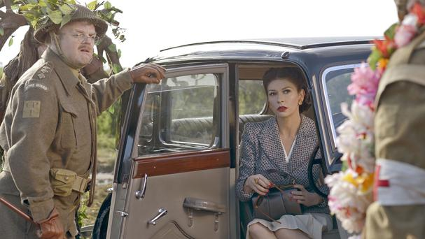 Toby Jones as George Mainwaring and Catherine Zeta-Jones as Rose Winters in the big-screen adaptation of Dad's Army (Universal Pictures/PA Wire)