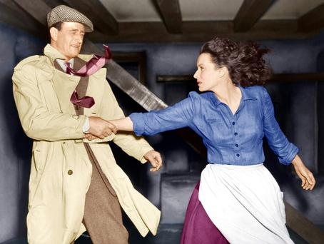 WINDSWEPT AND ROMANTIC: John Wayne and Maureen O'Hara in the famous scene from 1952's classic film, 'The Quiet Man'