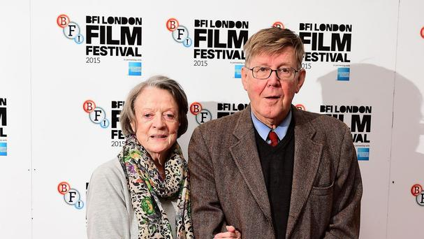 Dame Maggie Smith and Alan Bennett at a photocall for new film The Lady In The Van