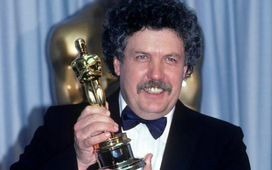 Winner: Colin Welland collecting his Oscar for Chariots of Fire in 1982. Photo: American Broadcasting Companies, Inc