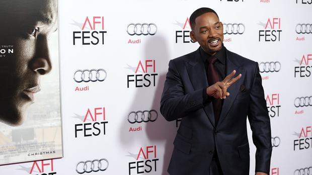 Will Smith, star of Concussion, arrives at the world premiere gala screening of the film in Los Angeles (AP)