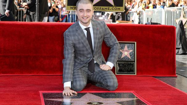 Daniel Radcliffe attends the ceremony honouring him with a star on the Hollywood Walk of Fame (AP)