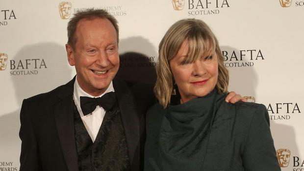 Bill Paterson and Hildegard Bechtler arriving at the British Academy Scottish Awards