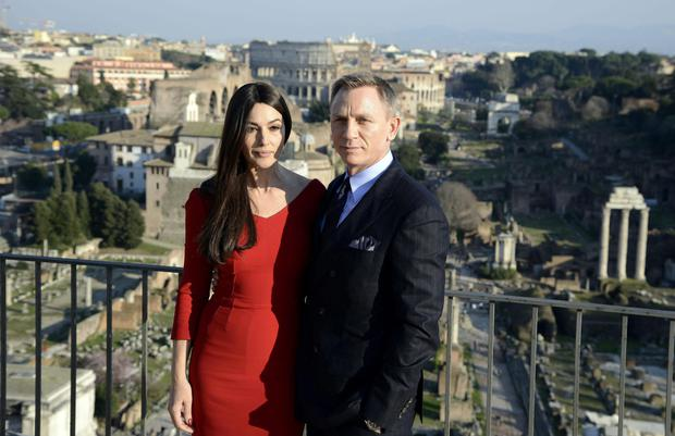 Bond stars Monica Belluci and Daniel Craig