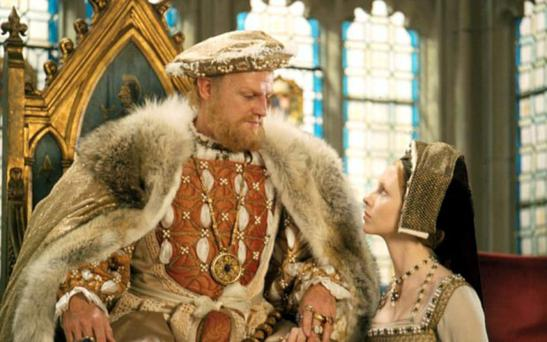 THRONE: Michell and Jane Asher in Henry VIII and His Six Wives