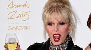 Joanna Lumley, seen playing Absolutely Fabulous's Patsy, at an awards ceremony