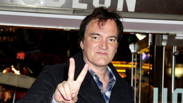 Quentin Tarantino attending the premiere of The Hateful Eight at the Odeon Leicester Square