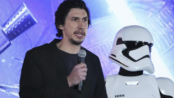Adam Driver is in Star Wars: The Force Awakens (AP)
