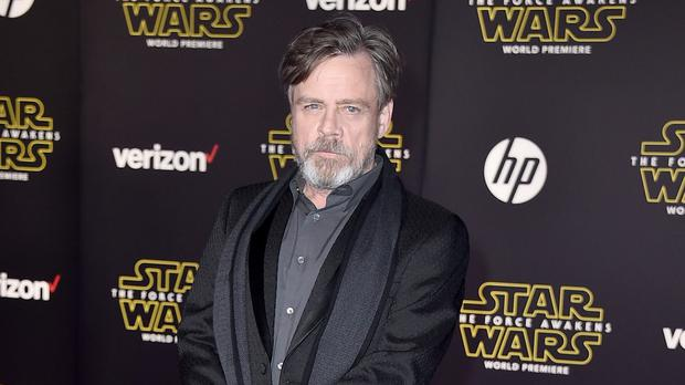 Mark Hamill arrives at the world premiere of The Force Awakens at the TCL Chinese Theatre (AP)