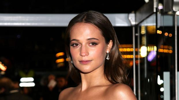 Alicia Vikander attending the premiere of The Danish Girl