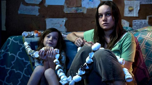 Confined place: Jacob Tremblay (left) and Brie Larson star in the movie