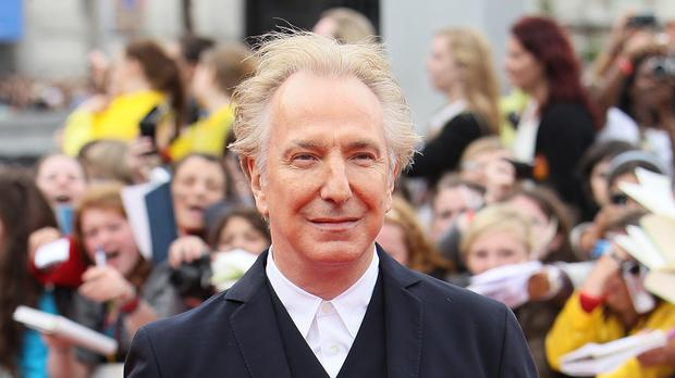 Alan Rickman at the world premiere of Harry Potter And The Deathly Hallows: Part 2