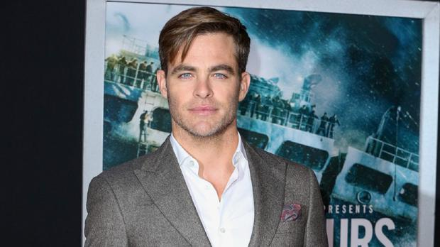 Chris Pine spent a lot of time in a huge tank of water for his film The Finest Hours (Invision/AP)
