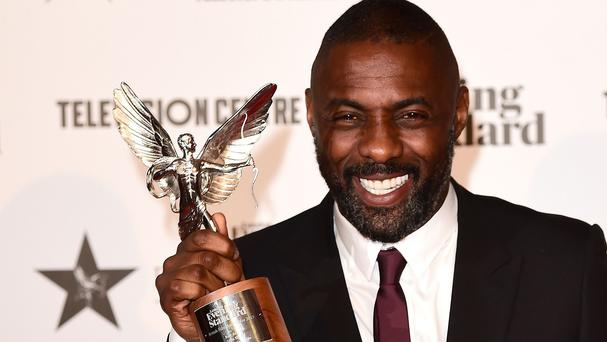 Idris Elba wins the Best Actor Award at the London Evening Standard British Film Awards at the Television Centre, White City, London.