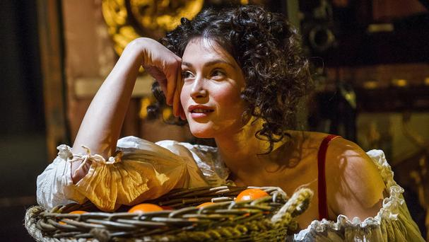 Gemma Arterton during a scene from West End play Nell Gwynn (Tristram Kenton/Jo Allen PR/PA)