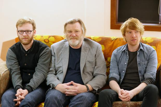 Family affair: Brian, Brendan and Domhnall Gleeson