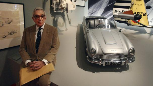 Sir Ken pictured in 2008 at the For Your Eyes Only, Ian Fleming and James Bond exhibition at the Imperial War Museum in London (AP)