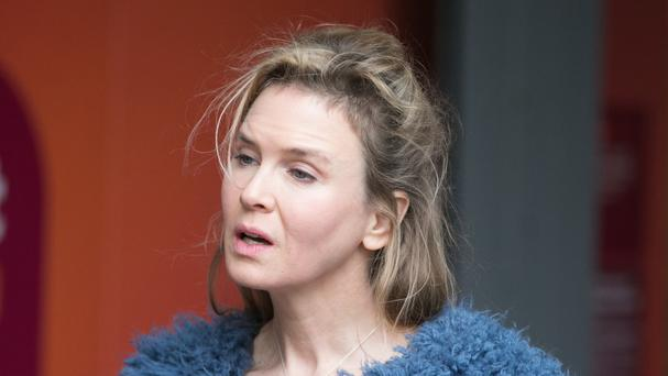 Renee Zellweger during filming of Bridget Jones's Baby in London