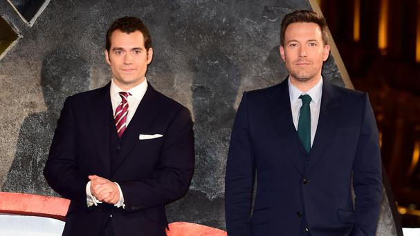 Ben Affleck and Henry Cavill, left, at the Batman v Superman: Dawn Of Justice European premiere in London