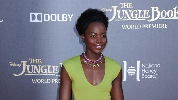 Lupita Nyong'o arrives at the premiere of The Jungle Book at the El Capitan Theatre (AP)