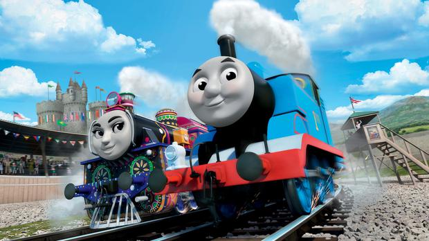 Thomas the Tank Engine (right) and Ashima of India who feature in upcoming film Thomas And Friends: The Great Race (Mattel, Inc/PA)