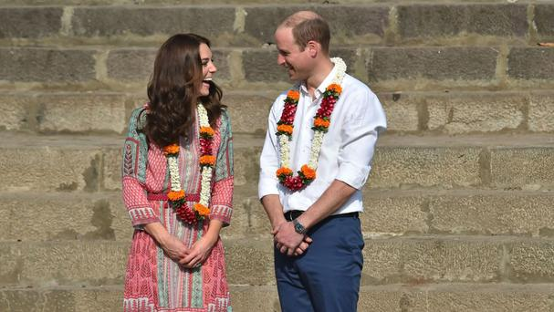 The Duke and Duchess of Cambridge on day one of the royal tour to India and Bhutan