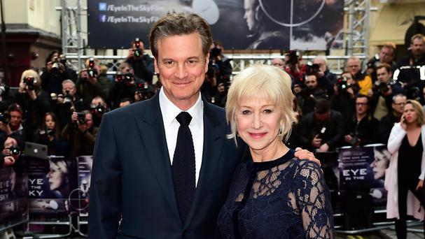 Dame Helen Mirren and Colin Firth at the Eye In The Sky UK premiere