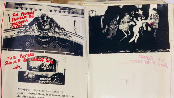 Stanley Kubrick's own annotated proof copy of the first half of the illustrated screenplay to A Clockwork Orange
