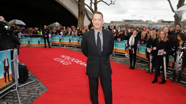 Tom Hanks attending the premiere of A Hologram For The King at BFI Southbank, London
