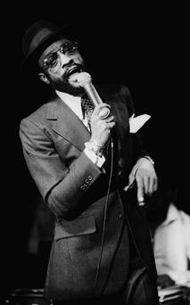 Billy Paul on stage in 1977 Credit: Michael Putland/Hulton Archive