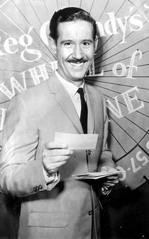 Reg Grundy on Wheel of Fortune in 1959. Photo: Rex Features