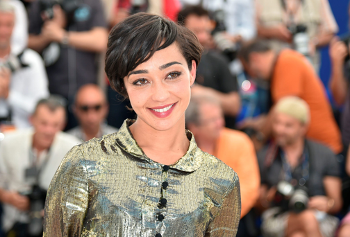 Irish actress Ruth Negga at the Cannes Film Festival yesterday morning