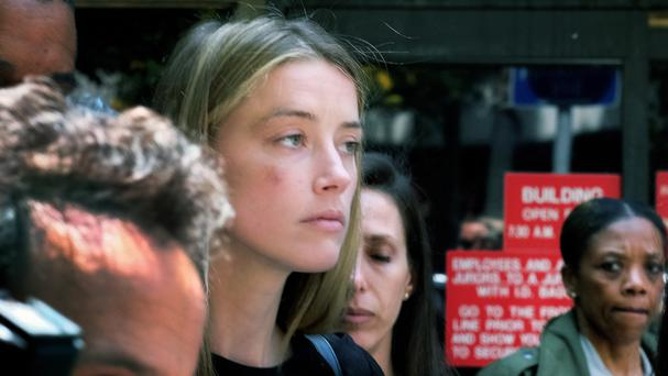 Amber Heard leaves Los Angeles Superior Court (AP)