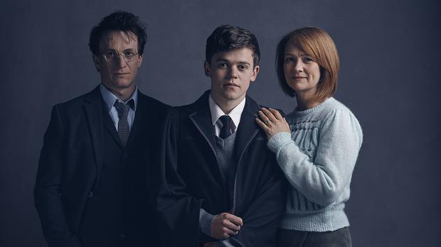Jamie Parker, Sam Clemmett and Poppy Miller who will play Harry Potter, Albus Potter and Ginny Potter respectively in the play Harry Potter And The Cursed Child