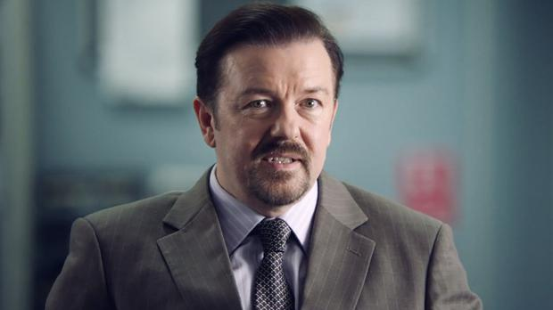 Ricky Gervais as David Brent, back and launching a music career in the film Life On The Road (Entertainment One UK/PA)