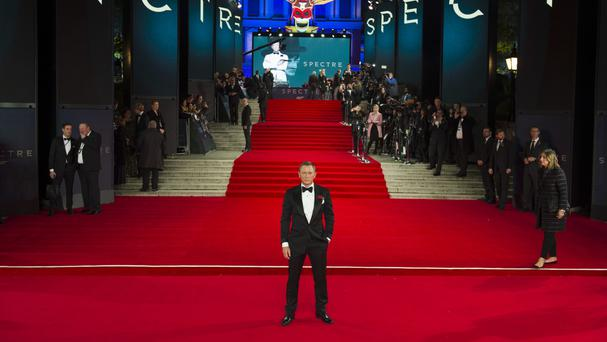 Daniel Craig attending the World Premiere of Spectre