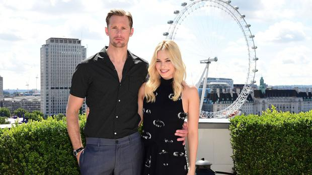 Alexander Skarsgard and Margot Robbie promoting The Legend Of Tarzan in London