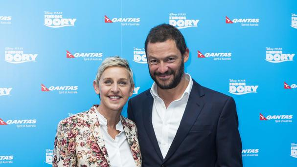 Ellen DeGeneres and Dominic West attends the UK premiere of Finding Dory