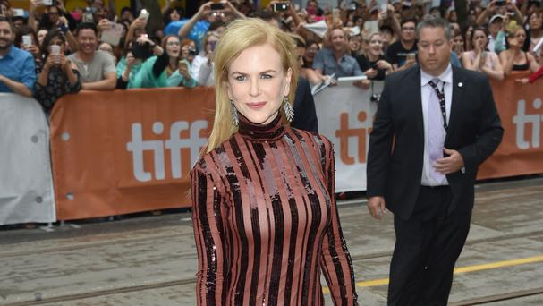 Nicole Kidman arrives at the Lion premiere at the Toronto International Film Festival (AP)