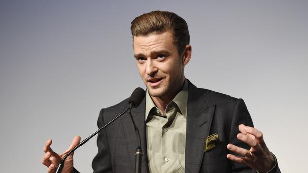 Justin Timberlake introduces the concert film Justin Timberlake + The Tennessee Kids at the Toronto International Film Festival (AP)