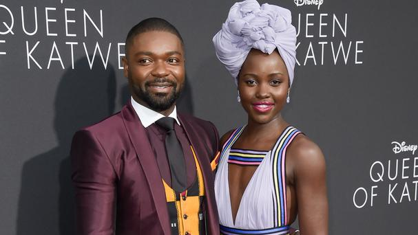 David Oyelowo and Lupita Nyong'o at the LA premiere of Queen Of Katwe (Invision/AP)