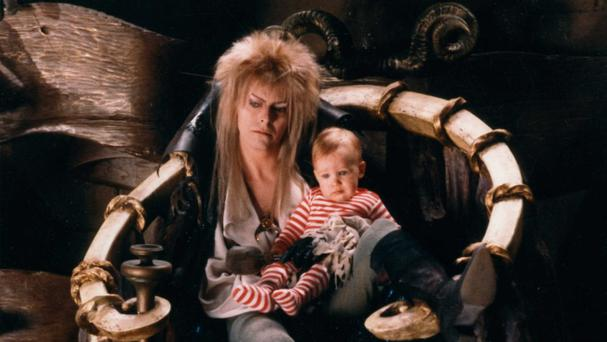 David Bowie as Jareth the Goblin King in the 1986 cult classic Labyrinth (Sony Pictures Home Entertainment/PA)