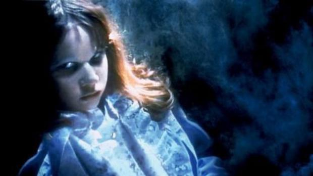 A possessed Linda Blair in 'The Exorcist' film
